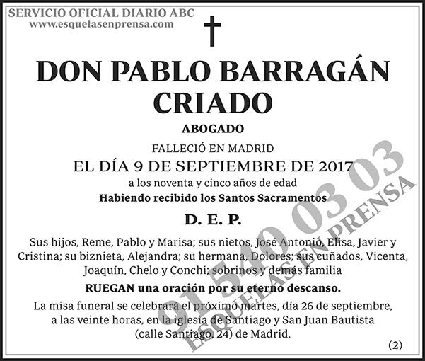 Pablo Barragán Criado